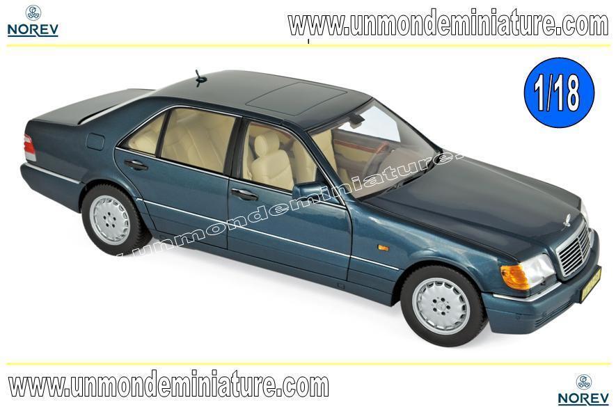Mercedes-Benz S600 1997 vert metallic  NOREV - NO 183593 - Echelle 1 18