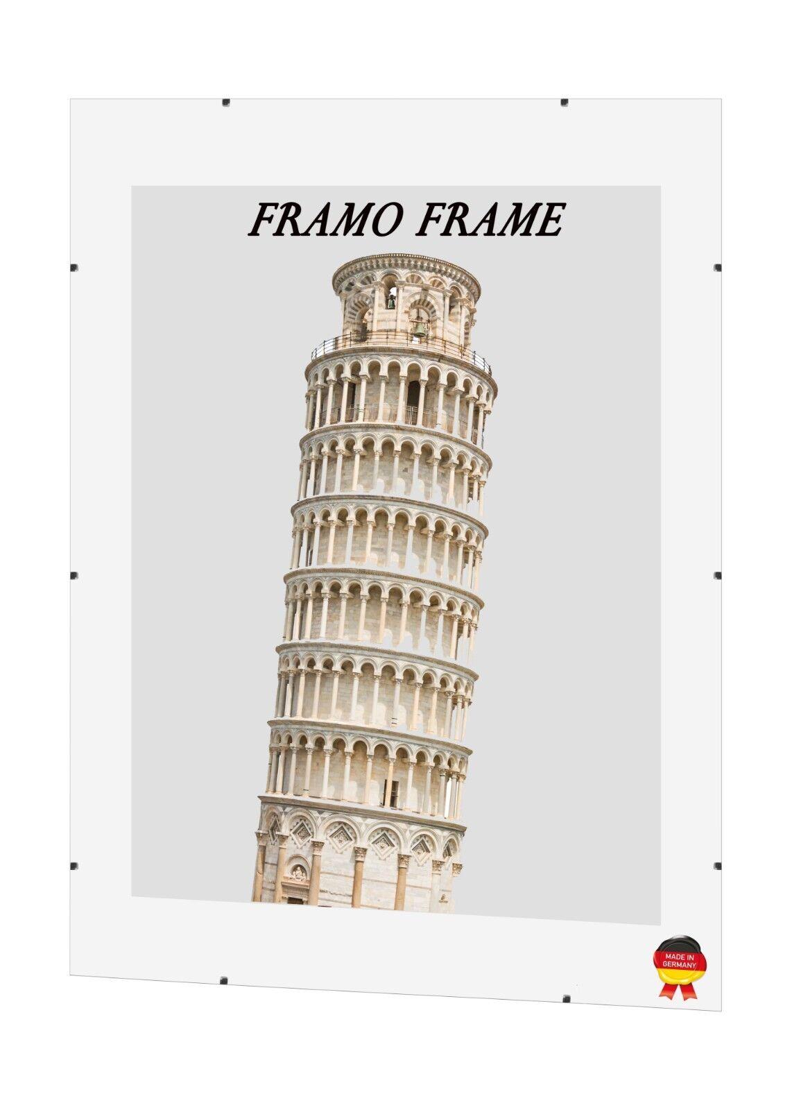 Rahmenloser Bilderrahmen Cliprahmen Rahmenlos Bildhalter Rahmen 70x70 - 71x87cm