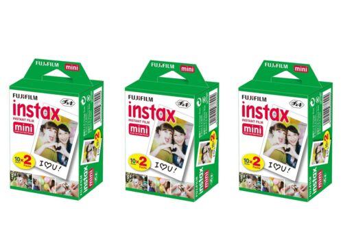 60 foto 3 X Pellicola istantanea Fujifilm instax mini 10 X 2 Packs