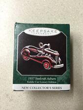Hallmark Miniature Christmas Ornament NIB 1937 Steelcraft Auburn 1998
