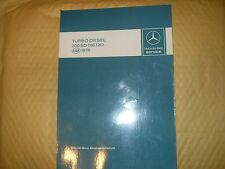 Manual: Mercedes Benz (Introduction Into) Service Turbo Diesel 300SD (116.120)