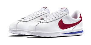 325c6a6cbf03 Nike Cortez Basic Leather OG Mens Shoes 13 White Varsity Red 882254 ...