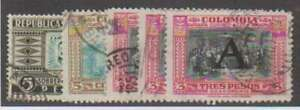 D0891: Colombia #C110, C133, C197 (3), Used; CV