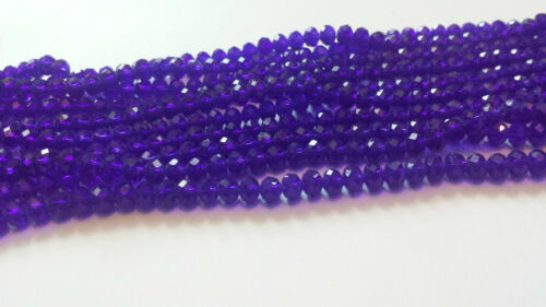 100 Minis Faceted Crystal Glass Beads 43 Colour 4x6mm Free p/&p Loose Beads