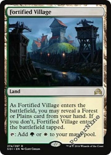 1 FOIL Fortified Village Land Shadows over Innistrad Mtg Magic Rare 1x x1