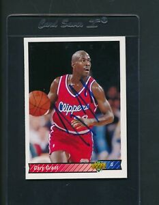 1992/93 Upper Deck #203 Gary Grant Clippers Signed Auto *A5630