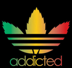 Addicted Weed Dope Marijuana 420 Kush Pot Leaf Rasta ...