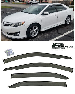 Out Channel Visors Wind Deflector Light Tint For Toyota Camry 12-14 4pcs