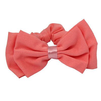 Rosa Schleife Haargummi Zopfgummi Haarband Pferdesschwanz Zopf-Halter Bow