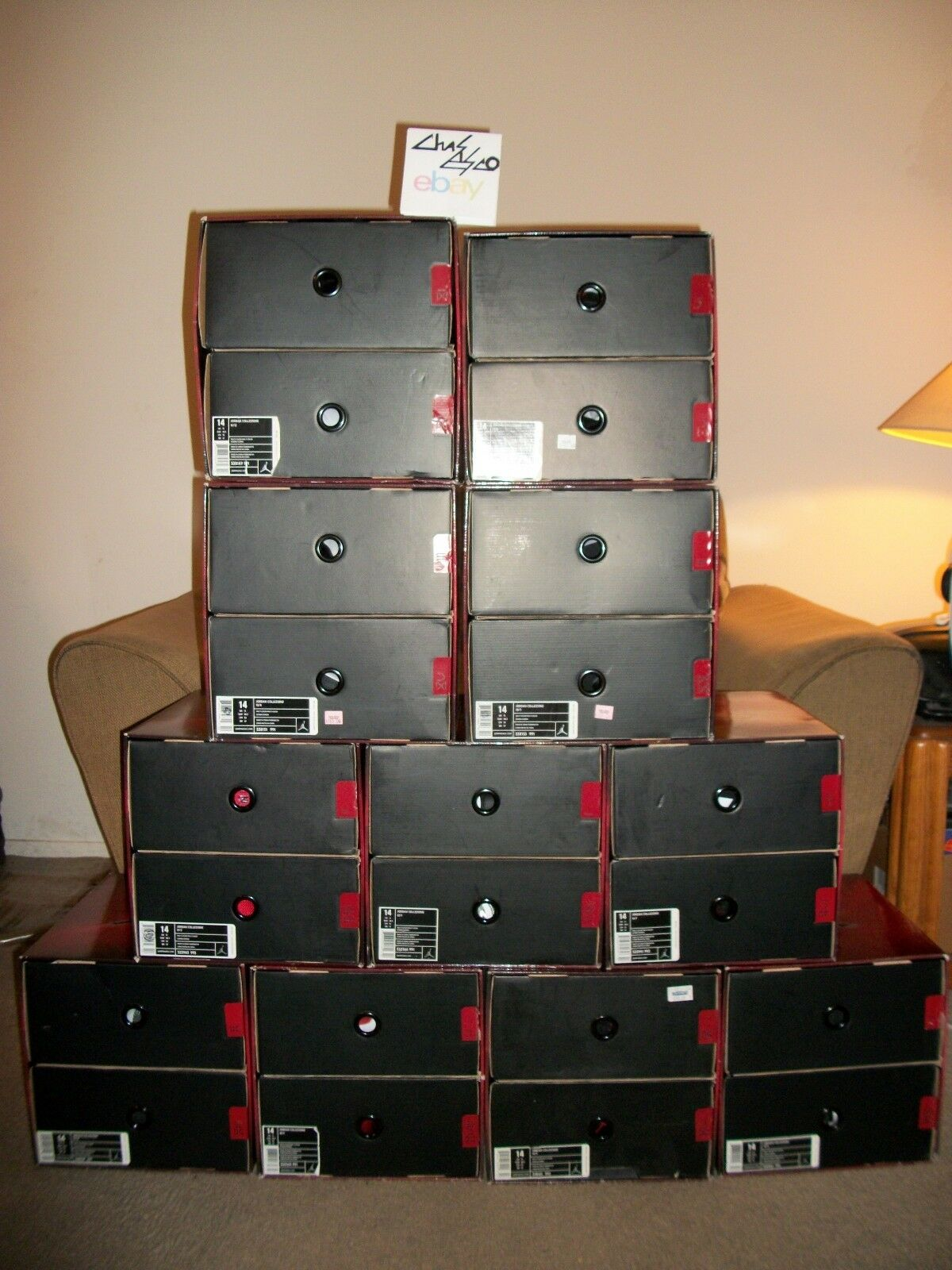 Nike Air Jordan Collezione 2008 Countdown Complete Pack Complete Countdown Set Size 14 New In Box ! bf8220