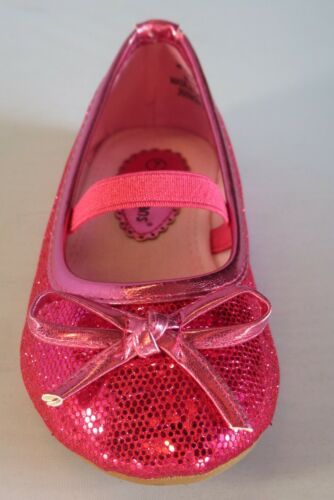 Toddler Pageant Flower Girls Fuchsia Silver zomora Girl Glitter Flats w//Bow