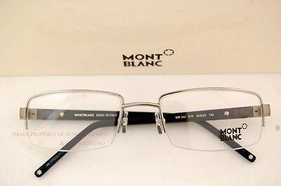 Brand New MONT BLANC Eyeglass Frames 0342 342 015  Silver Black for Men