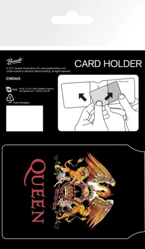 Queen Colour Crest Freddy Mercury Oyster Wallet Travel Holder ID Card Holder