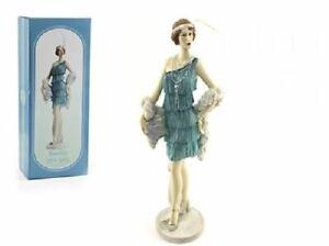 Roaring-20s-Lady-Azure-On-Stand-33cm-Figurine-Decorative-Ornament