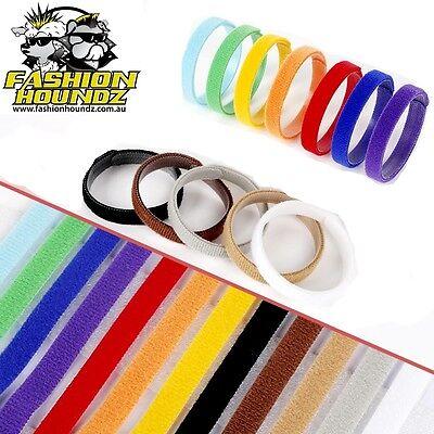 Puppy Kitten ID Collars Litter 12 Colours Set Whelping Adjustable Reusable Soft