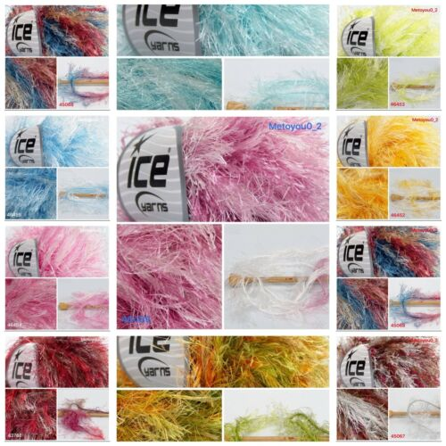 Ice Yarns LONG EYELASH COLORFUL 50gr 1 ball  10 colours