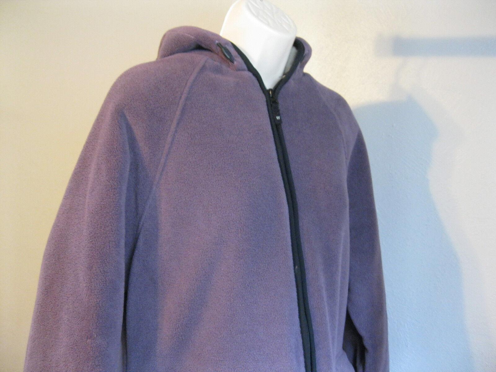 VTG  Women's Woolrich PURPLE    Fleece COAT  Medium HOOD  FLEECE LINED da253e