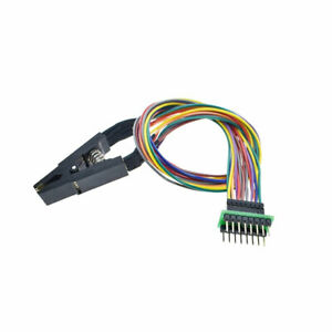 Programmer-Test-Clip-SOP8-SOIC8-IC-8Pin-EEPROM-Flash-Testing-Clamp-Black