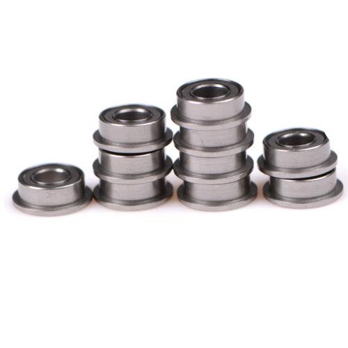 10 STÜCKE MF63zz Mini Metall Doppel Geschirmte Flanschkugellager 3mmX6mmX2.5 ML