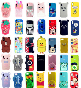 Case-For-iPhone-6-7-8-Plus-XR-XS-11-Pro-Max-Cute-3D-Cartoon-Silicone-Kids-Covers