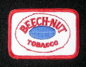 BEECH-NUT-TOBACCO-EMBROIDERED-SEW-ON-PATCH-BLUE-DOT-Chewing-Tobacco-3-034-x-2-034