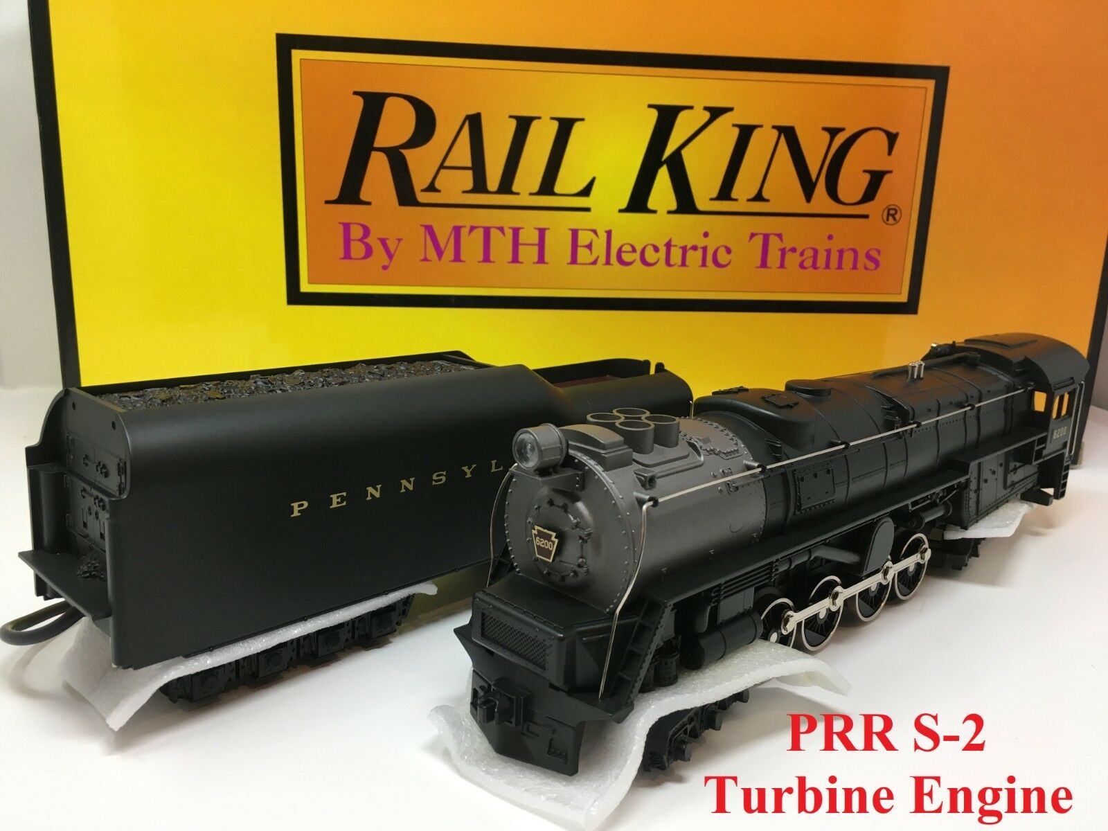 Rail King MTH 30-1149-1 Pennsylvania Cab  6200 S-2 Turbine Engine Proto-Sound O