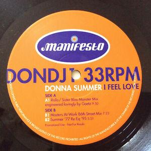 Donna-Summer-I-Feel-Love-Mixes-UK-1995-2xVinyl-12-034-Promo-MINT-UNPLAYED