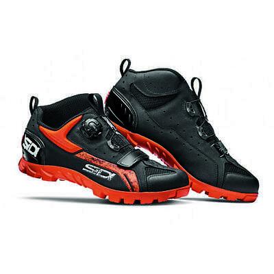 Sidi Defender Mountain Bike MTB Shoes Black Orange Size 46 EU