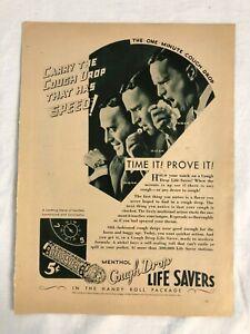 RARE-Vintage-1931-LIFE-SAVERS-AD-Menthol-Cough-Drop-Advert-Richard-Arlen-reverse