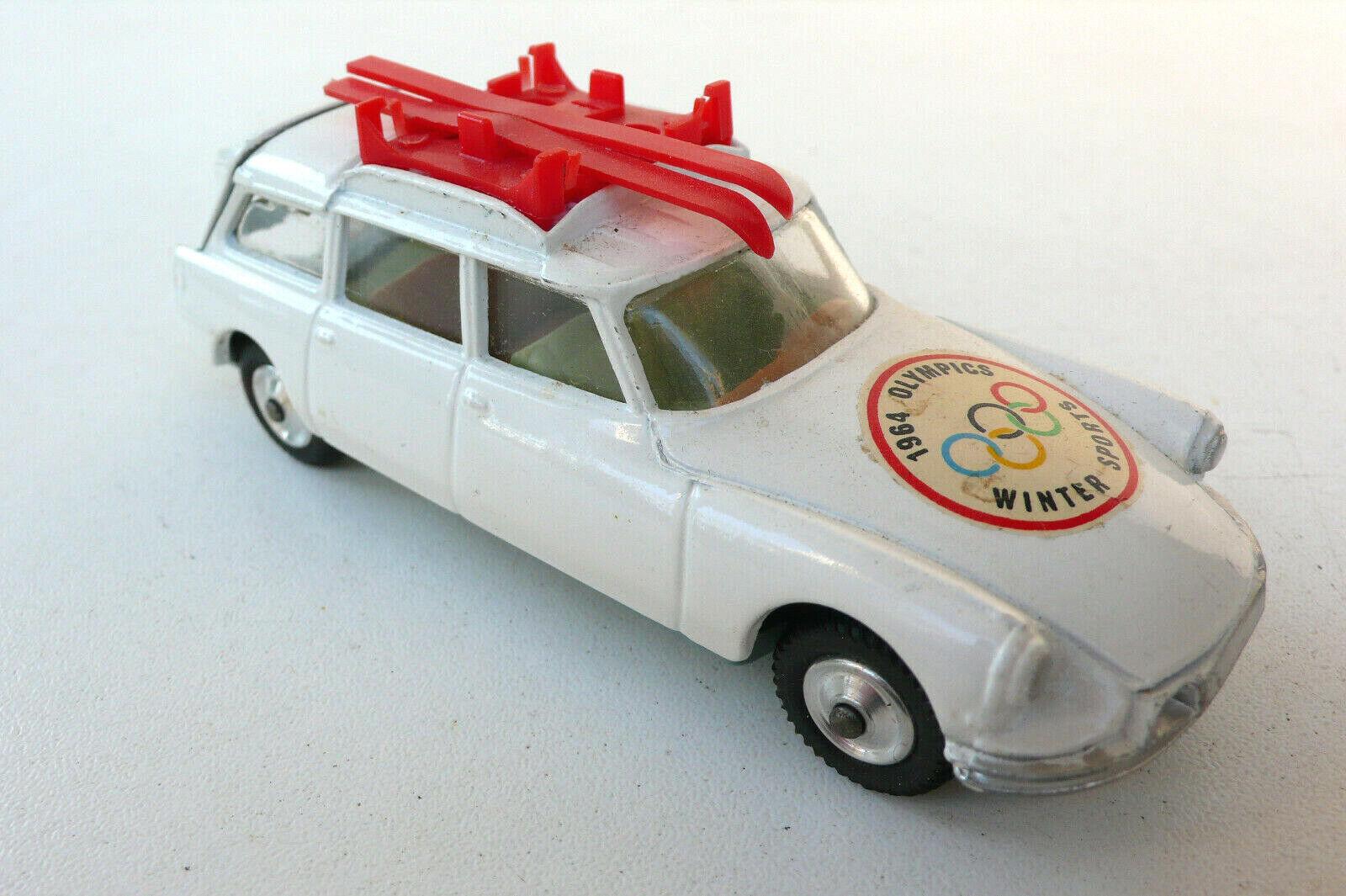 CORGI SpielzeugS   CITROEN DS SAFARI    OLYMPICS WINTER SPORTS 1964   BON ÉTAT