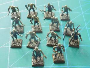 14 Warhammer 40k Donjons Dragons Mort-vivant Zombie Goules En Plastique Peintes Figures-afficher Le Titre D'origine