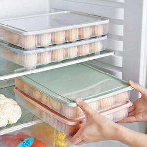 plastic-Egg-box-kitchen-egg-storage-box-24-Grid-Eggs-holder-Stackable-freezer-EL