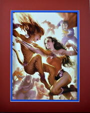 WONDER WOMAN vs CHEETAH PRINT PROFESSIONALLY MATTED DC New 52 Justice League