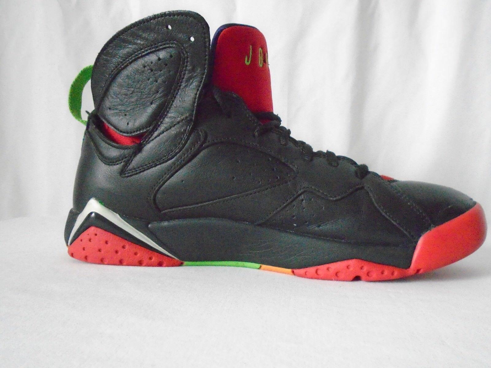 Nike Air Jordan mens size 10 black red shoe 7 vii retro marvin the martian
