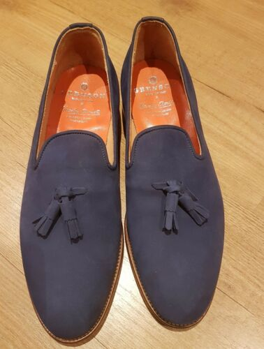9th Grenson Girlfriends Blue X Mocassini in Hardy con nappe scamosciata pelle qUT7azg