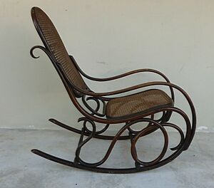 Image Is Loading AUTHENTIC ORIGINAL COND SIGNED THONET BENTWOOD ROCKER  DESIRABLE