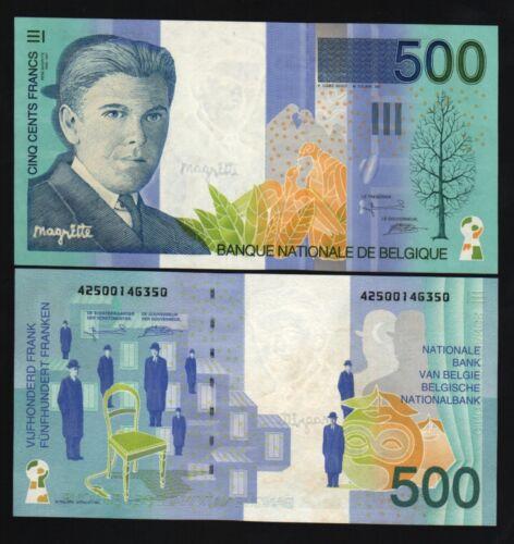 BELGIUM 500 FRANCS P149 1998 RENE BIRD EURO UNC EUROPEAN EU MONEY BILL BANK NOTE