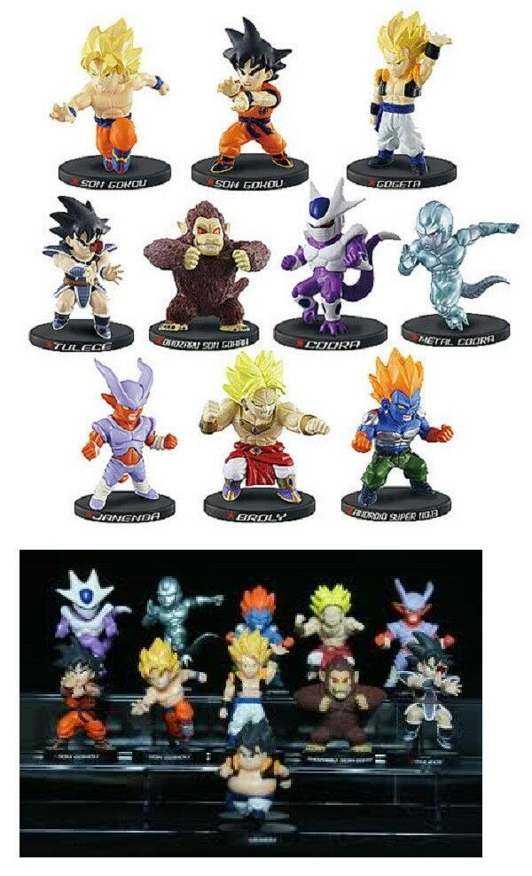 Dragonball Z Bandai Deformation Chapter of Movie 100% Authentic Full Set of 11