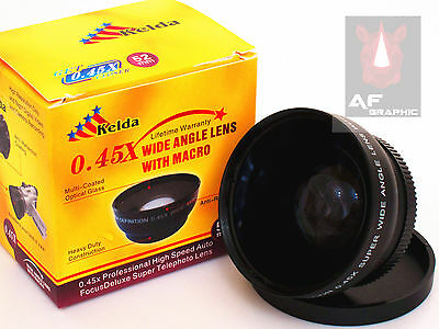 Z14a 0.45X Wide Angle Lens with Macro for Canon EOS 750D 760D w/ 18-55mm Lens