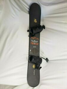 Vintage-Burton-SuperFly-II-Wood-Core-Jim-Rippey-56-Snowboard-W-Bindings