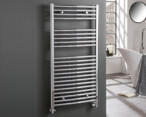 Reina Curved Heated Towel Rail Chrome Bathroom Radiator Ladder Warmer Heating