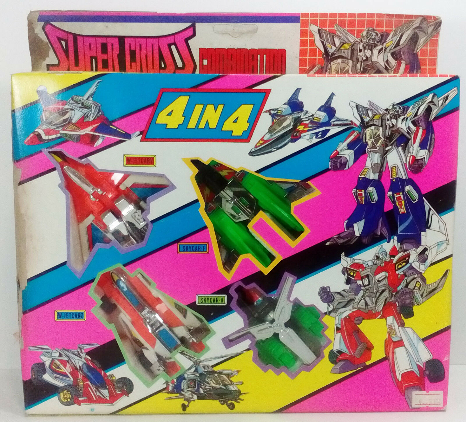 VTG SUPER CROSS COMBINATION 4 IN 4 COMBINERS TRANSFORMERS KO MADE IN TAIWAN