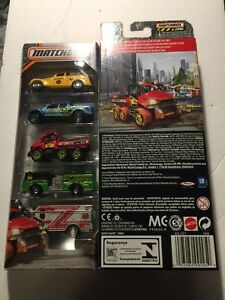 2016-MATCHBOX-HEROIC-RESCUE-5-PACK-FIVE-PACK-DVL88