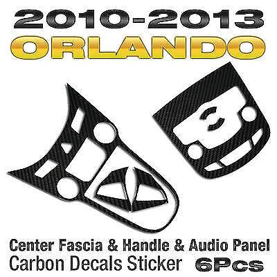 Audio /& Center Fascia /& Handle Carbon Decals Sticker for CHEVY 2010-2015 Orlando