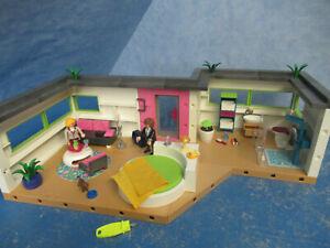 Details zu 5586 Gäste Bungalow v Möbel zu 5574 Luxus Villa Playmobil 7894