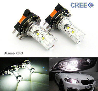Mercedes CLA A Class H15 Xenon White Cree LED Daytime Running Light Bulbs 80W