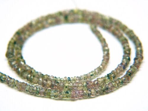 """8/"""" piedras preciosas naturales de zafiro facetado rondelle granos elegir Naranja Rosa o Verde"""
