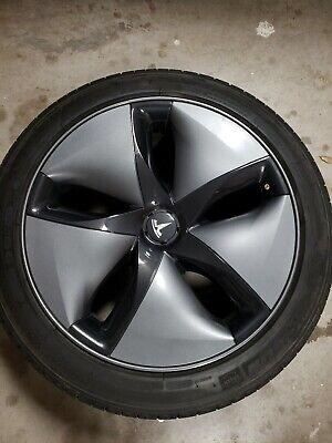 "2019 Tesla Model 3 OEM 18"" Rim, Tire, and Aero Hubcap | eBay"