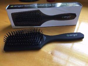 Ergo-Ionic-Polishing-Paddle-Brush-Diamond-Head-Less-Frizz-FREE-SHIP-NO-TAX