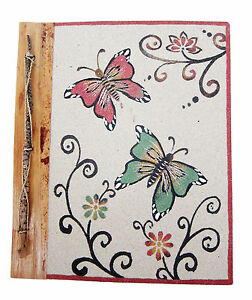 Large Handmade photo album made using natural sand// lief BUTTERFLY design  new